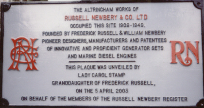 The Altrincham Plaque